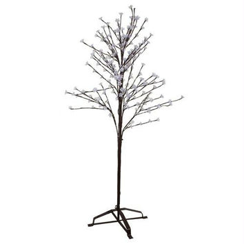 Led Cherry Blossom Tree - 240 Led Cool White Micro Lights In Clear Flowers