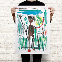 Jean-Michel Basquiat Untitled paint art print poster