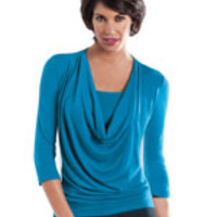 SlimU Slimming Cowl Neck Top
