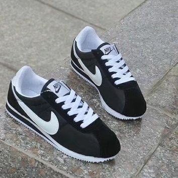 nike cortez classic unisex sport casual cloth surface running shoes couple retro sneakers-1