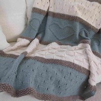 Seaside Blanket Pattern by Debbie OLeary | Knitting Pattern