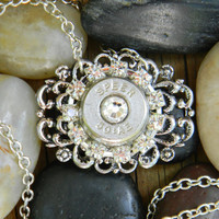 Bullet Necklace, Bullet Jewelry, 50 Caliber, Outlaw Glam