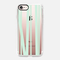 Pale Mint Stripes iPhone 7 Case by Lisa Argyropoulos | Casetify