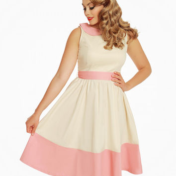 'Beattie' Cream Swing Dress