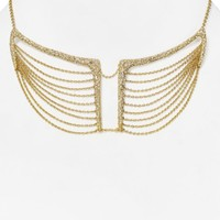 Alexis Bittar Miss Havisham Crystal Encrusted Multi-Chain Bib Necklace, 16"