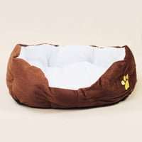 PP cotton soft faux lamb fur inside dog pad dog bed house kennel cushion small big size dog rug carpet M 50*40*15 L 65*55*22cm