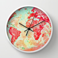 Oh, The Places We'll Go... Wall Clock by Ally Coxon