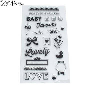 Funny Baby Forever Always Clear Silicone Rubber Stamp for DIY Scrapbooking Photo Album Paper Cards Decor Decorative Craft