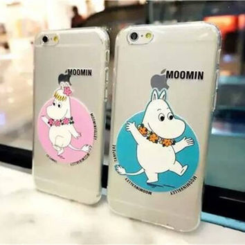 On Sale Stylish Hot Sale Iphone 6/6s Cute Hot Deal Lovely Apple Couple Transparent Silicone Soft Phone Case [6034144513]