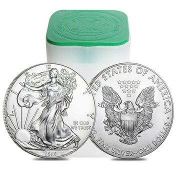 2019 1 oz Silver American Eagles Roll (20 Coins)