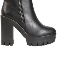 Zip Side Platform Boot