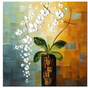 Hand Painted Oil Painting On Canvas Floral Art Works Framed Print Picture Arts