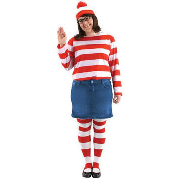 "Women's Costume: Kit Where's Waldo ""Wenda"""
