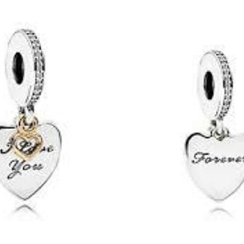 Pandora Charms Love You Forever Pendant Dangle Charm Authentic Pandora