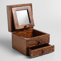 Espresso Carved Annabelle Jewelry Box
