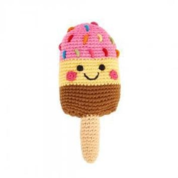 Striped Popsicle -  Fair Trade Knitted Baby Rattle