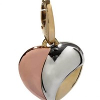 Cartier 18k White Yellow & Rose Gold Heart Charm Pendant | World's Best