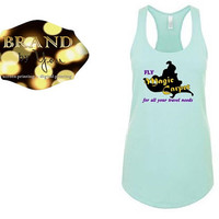TANK TOP** Fly Magic Carpet - Women's -Disney Aladdin // Princess Jasmine //going to Disneyland Disney World // custom printed graphic shirt