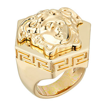 Versace Medusa Hex Ring