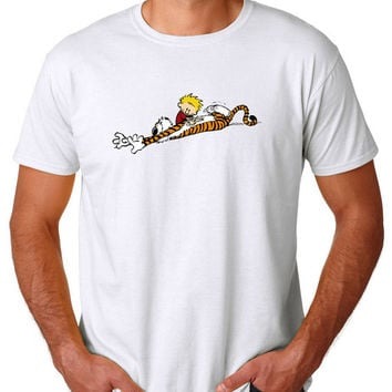 Calvin and Hobbes Pure Best Friend Tshirt T shirt Tees Tee Men's Women's Unisex Adults Premium Quality