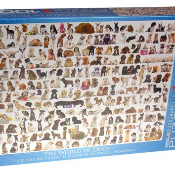Eurographics The World of Dogs Jigsaw Puzzle 1000 PC 19x26 Made USA 6000-0581