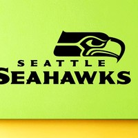 Seattle Seahawks NFL American Football Team Logo Sport Wall Vinyl Decal Mural Decals Sticker W1351