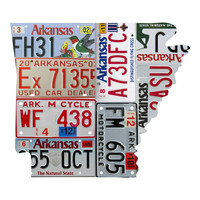 Arkansas License Plate wall decal