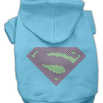Super! Rhinestone Hoodies Baby Blue L (14)