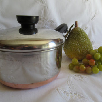 Vintage Revere Ware Copper Bottom Pot with Lid