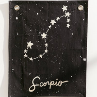 Glow-In-The-Dark Mini Zodiac Tapestry | Urban Outfitters