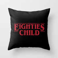 Eighties Child Throw Pillow by g-man