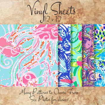Lilly Pulitzer Vinyl Sheets 12 x 12