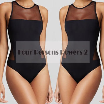 New Woman Lace bikini Design For Sexy One Piece Swimsuit perspective monokini hollow out Bathing Suits LT24 MP