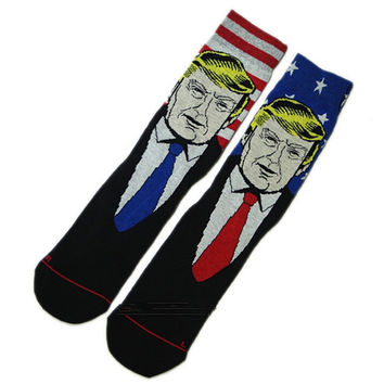 Donald Trump Crew Socks Christmas Gift flage