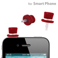 Phone Pierce Hat Earphone Jack Accessory (Red)