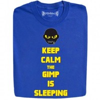 Guys : Keep Calm Gimp Is Sleeping Pulp Fiction Character Funny Design T-Shirts And Hoodies