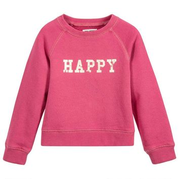 Zadig & Voltaire Girls Pink 'Happy' Sweatshirt (Mini-me)