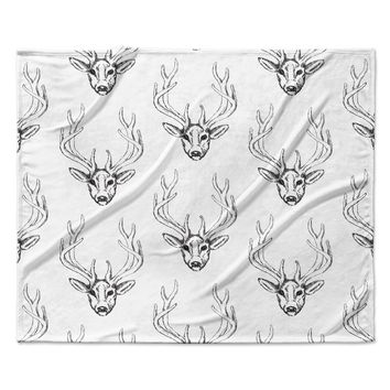 Oh Deer Pattern Baby Childrens Fleece Blanket