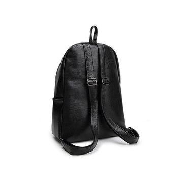 New Travel Backpack Korean Women Bag Backpack Leisure Female Student Bag Soft PU Leather Women Backpack
