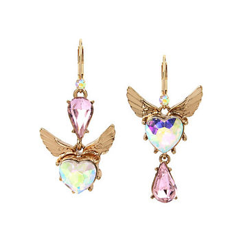 HEAVEN ON EARTH MISMATCH EARRINGS: Betsey Johnson