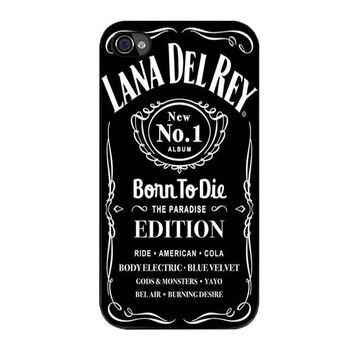 lana del rey jack daniels iPhone 4 4s 5 5s 5c 6 6s plus cases