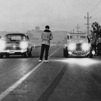 "American Graffiti Poster Black and White Poster 24""x36"""