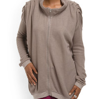 Cotton Front Zip Tunic - Women - T.J.Maxx