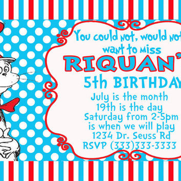 DIY Printable Dr Seuss Invitation