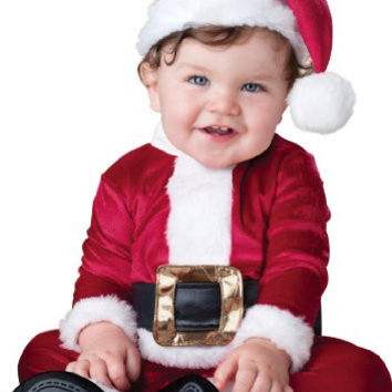 InCharacter Costumes Baby's Baby Santa Costume, Red/White, Medium (12-18 Months)