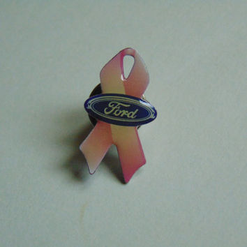 Ford Pink Ribbon Breast Cancer Awareness Pin, Brooch, Lapel