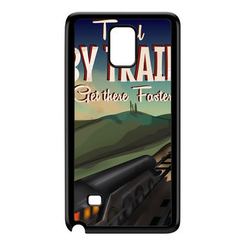 Travel by train Black Hard Plastic Case for Galaxy Note 4 by Nick Greenaway