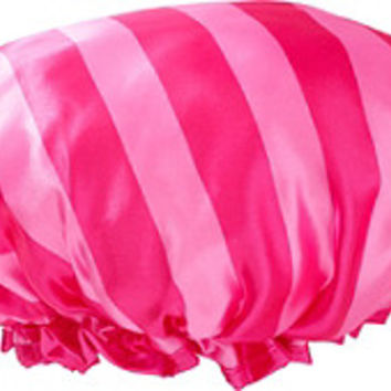 Sweet & Shimmer Stripe Print Satin Shower Cap | Ulta Beauty