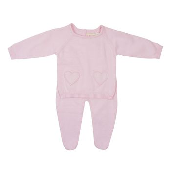 Baby Bol Baby Girls' Light Pink Knit Set
