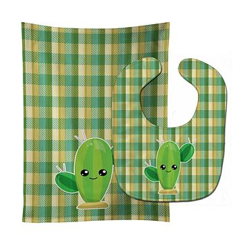 Cactus Plaid Baby Bib & Burp Cloth BB6852STBU